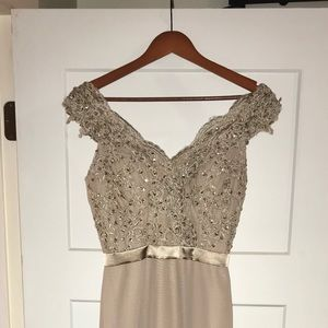 Taupe dress gown- size 4/ small